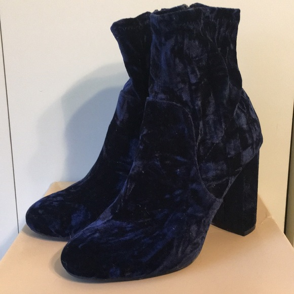 Mossimo Supply Co. Shoes - Midnight Blue Velvet Booties